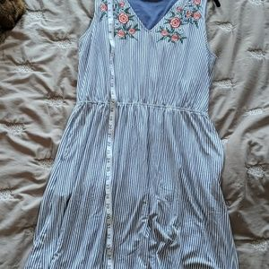Skies Are Blue Dresses - Stitch fix skies are blue embroidered dress Large